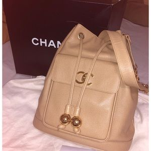 Authentic‼️ Chanel drawstring shoulder bag